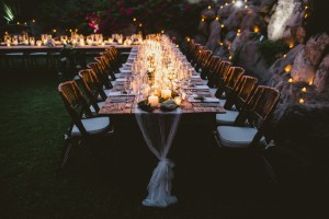 Wedding Table Candle Light