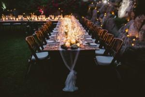 Wedding Table Candle Light