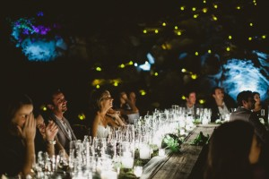 Wedding Toast at Night