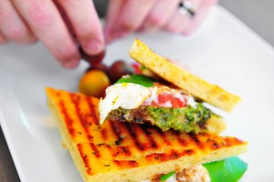 artisan pesto sandwich dash