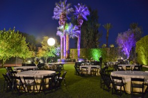 outdoor night time catering event
