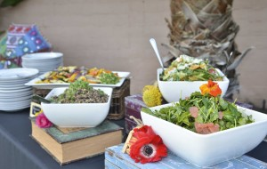 salads and serving station